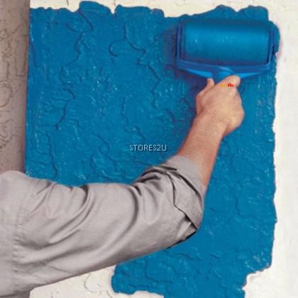 Paint Roller Brush Set With Liquid Filling Wall Painting Brush Tools Berus Cat Alat Mengecat Dinding [FREE Handle Pole]