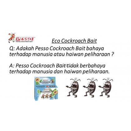 Pesso Eco Cockroach Bait (6pcs/3box) Umpan Lipas