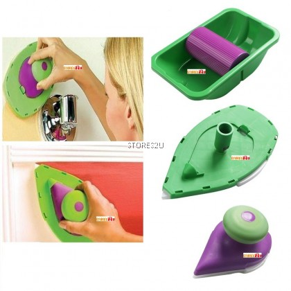 Wall Painting Tools Roller Tray With 2 Sponge Set Berus Cat Alat Mengecat Dinding Point and Paint