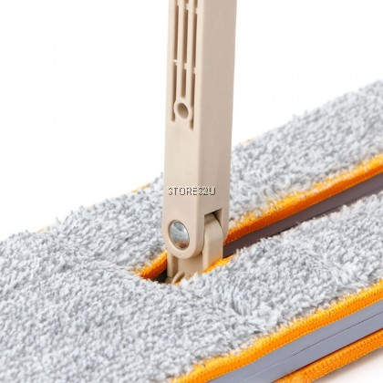 38cm Double Sided Hands Free Wash Microfiber Lazy Flat Floor Spin Mop FREE 2pc Extra Absorption Cloth Head