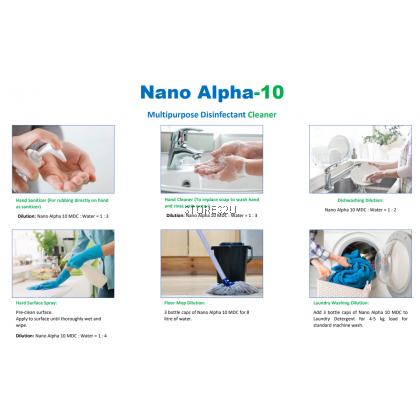 SHEPROS Nano Alpha-10 Multipurpose Disinfectant Cleaner (1L)