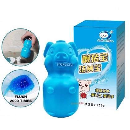 LKB Toilet Bowl Flush Cleaner Blue Pig Style Toilet Blocks (230g) 懒猪宝