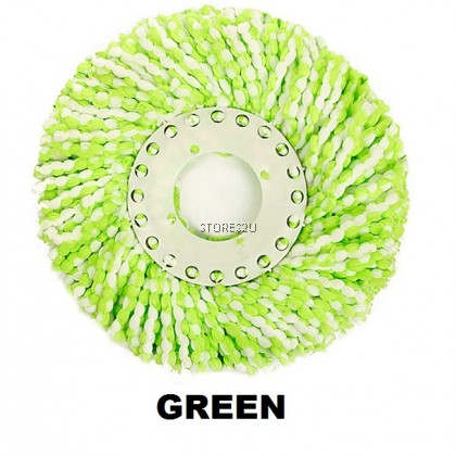 1pc x Universal Replacement Accessories Microfiber Fabric Mop Heads Cloth Refill Pad - 360 Spin Mop Aksesori Kain