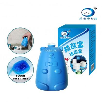 LKB Toilet Bowl Flush Cleaner (200g) Blue Bear Style Toilet Blocks