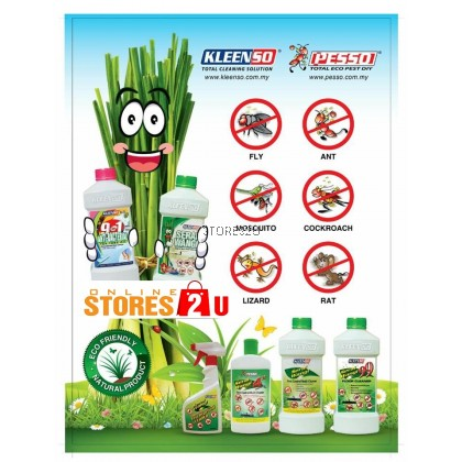Kleenso Serai Wangi Floor Cleaner (1Litre) Liquid Wax Pest Control Mosquito,Flies,Cockroaches,Ant,Lizard