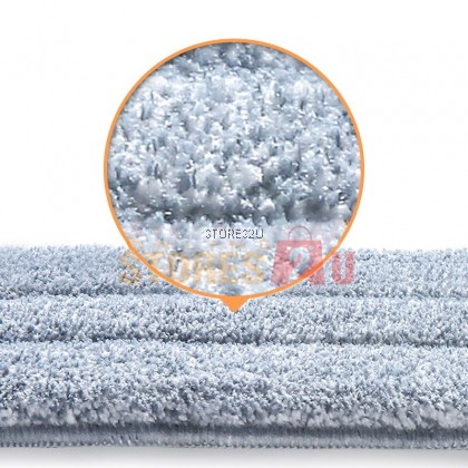 1pc Replacement Microfiber Mop Head Refill Pad for 2in1 Self-Wash & Squeeze DrySaving Flat Mop (33cm /35cm x 12cm)