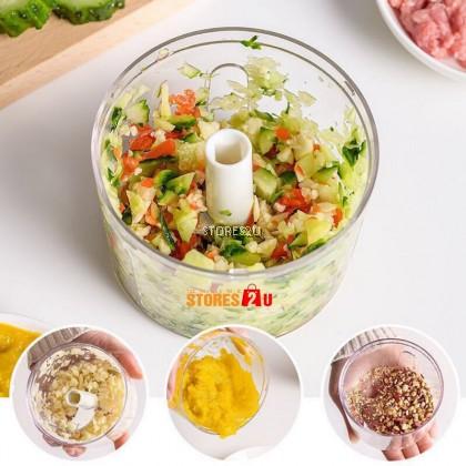 Food Chopper Mini Garlic Chopper Manual Pull String Speedy Cutter Grinder Mincer Mixer Blender For Garlic Onion Meat Nut