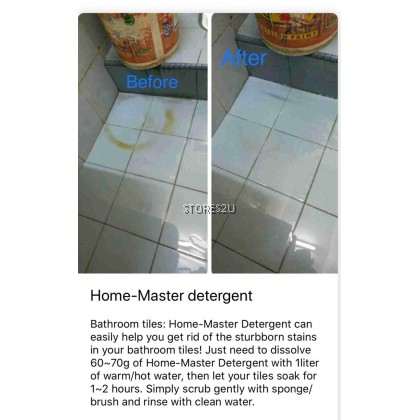 1kg Home-Master Detergent 省师父洗洁剂 Remove Tough Greasy Stains ALL IN ONE Multipurpose Home Master Powder Cleaner ECO 省师傅