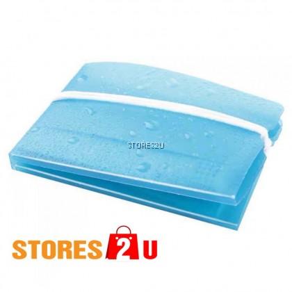 1pc Face Mask Plastic Cover [Individual packaging with manual]Washable Foldable Mask Keeper Storage Clip Blue Pink Clear
