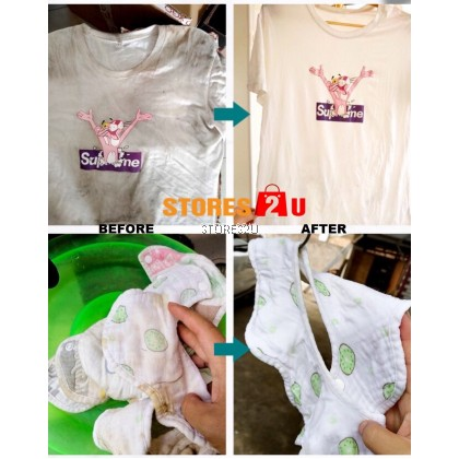 LKB Color Bleaching Powder (260g) Bath Fizzer Remove Cloth Stains Remover Explosive Salt Laundry