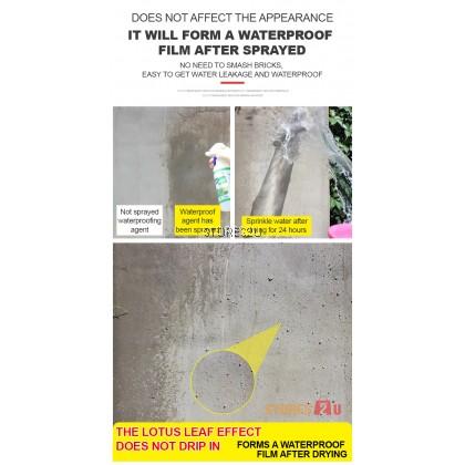 LKB Transparent Waterproofing Spray (500ml) Leak Prevention for Inner Outer Walls Floor Drain Semburan Kalis Air