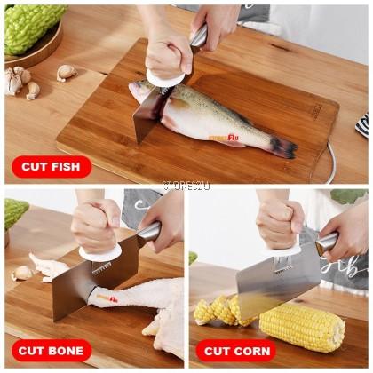 3in1 Knife Booster Cap Aid Holder Scrape Fish Scales Cutting Bone Corn Chopping Kitchen Alat Pemotong Pisau 助力刀帽