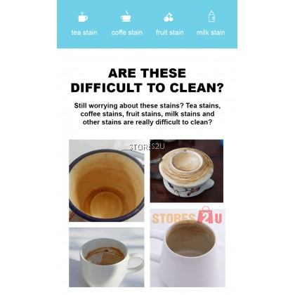 Tea Stain Remover (10 pack x 10g) Scale Remover Cleaning Teapot Tea Cup Water Cup Electric Kettle Cleaner 茶垢去渍剂