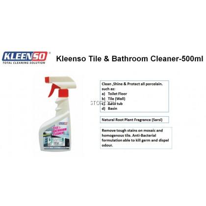Kleenso Tile & Bathroom Cleaner Spray (500ml) Remove Tough Stain Clean Shine Porcelain Surface Toilet Bowl Bath Tub