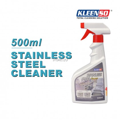 Kleenso Stainless Steel Cleaner (500ml) Liquid Spray to Cleans, Polishes, Preserves & Protects Kitchen Appliances, Lift