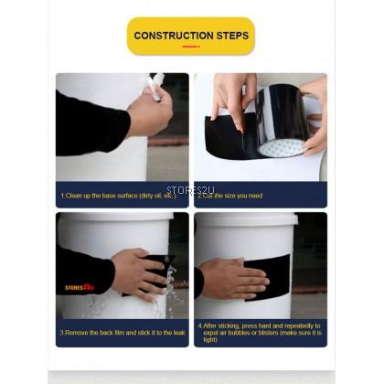 Waterproof Repair Adhesive Tape (10cm x 1.5 m) Stop Leakage Crack Leaks Seal Proofing Stman Tape (White / Black / Clear)