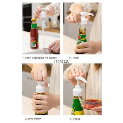 Sauce Bottle Nozzle Pump Head Squeezer Oil Squeezing Oyster Sauce Pressing Nozzle Pam Muncung Memerah Botol Sos