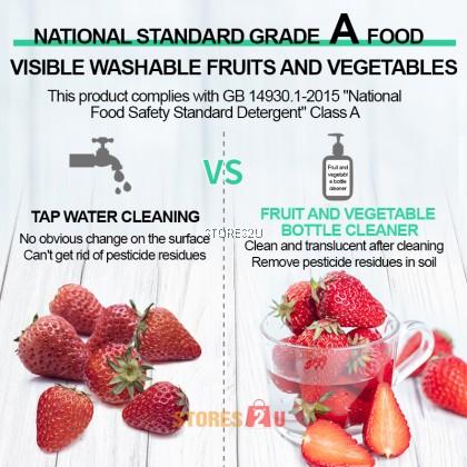 LKB Fruit and Vegetable Milk Bottle Cleaner (500ml) Kitchen Tableware Baby Nipple Milk Stains Cleaning Liquid Detergent