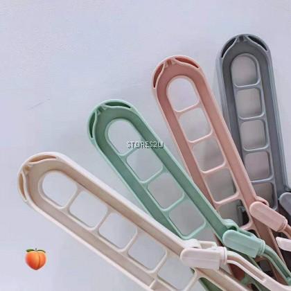 Multifunction Hanger Organiser (9 hole) Save Cabinet Space Wardrobe Storage Rotating Horizontal Vertical Penyangkut Baju