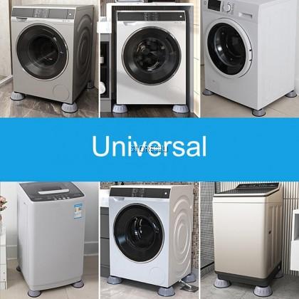 4pcs Washing Machine Base Feet Pad Rubber Mats Increase Height Non-slip Reduce Noise Anti-vibration Pad