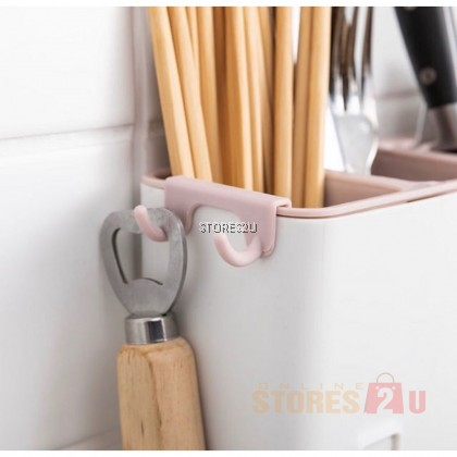 Kitchen Storage Holder Multifunctional Draining Rack Wall Hanging Cutlery Box Chopstick Spoon Basket Rak Dapur
