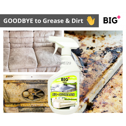 BIG+ Bio Degreaser (500ml) Clean Dirt Langsir Stain Grease Couch Sofa Kitchen Range Hood Leather Fabric Carpet Oven Rust