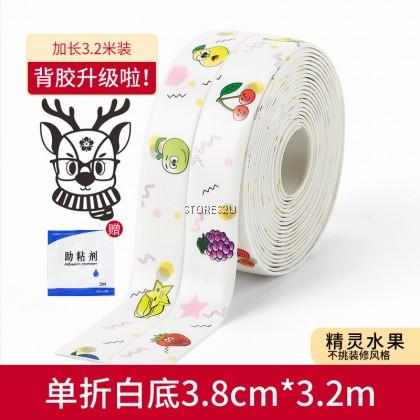 PVC Acrylic Self-adhesive Gap Sticker Caulk Strip Beauty Seam Mildewproof Waterproof Kitchen Anti-Oil Stove Edge