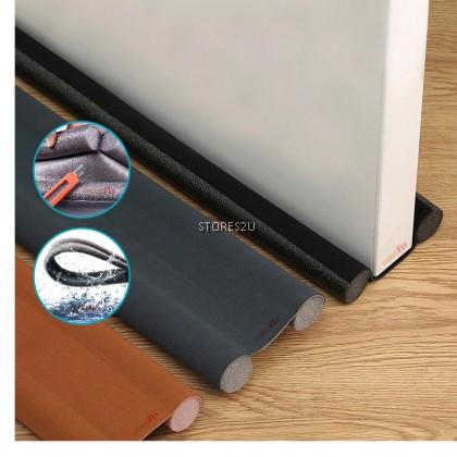 95cm Flexible Door Gap Bottom Seal Soundproof Wind Dust Blocker Doorstop Sealing Strip Foam Guard PENUTUP BAWAH PINTU门缝底密封隔音条 (Brown / Grey / Black Color)