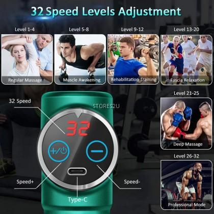 Portable Massage Gun Vibration Massager Muscle Body Neck Relaxation Exercising Pain Relief Mini Fascial MESIN URUT 筋膜枪